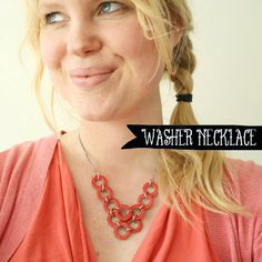 DIY - Washer necklace - I feel like nail polish will flake...maybe try acrylic metals paint?