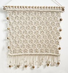 Items similar to Le Petit Macrame wall hanging / Ranran Design / Wall Art on Etsy Diy And Crafts, Arts And Crafts, Macrame Mirror, Macrame Tutorial, Weaving, Etsy, Embroidery, Quilts, Blanket