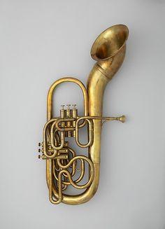 Bass saxhorn Maker: Adolphe (Antoine Joseph) Sax (Belgian, Dinant, Belgium 1814–1894 Paris) Date: 1863 Medium: Brass