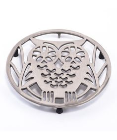Another great find on #zulily! Satin Nickel Wise Owl Trivet #zulilyfinds