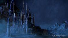 Sci Fi Castle in the Rain