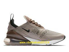da0fe10538fd8 Nike Air Max 270 Chaussures Nike Running 2019 Pas Cher Pour Homme Brun  Blanc AH8050-