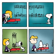 Monday with Schroeder and Snoopy.