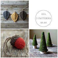 Seasonal Pattern Bundle  Knitting Pattern  Knit by TheSittingTree