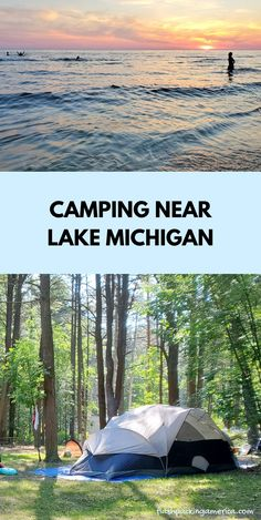 see the post for more! michigan camping ideas. tent camping. rv camping. campground near lake michigan beach, great lakes camping. michigan road trip, midwest summer vacation. michigan things to do near muskegon mi Michigan Water, Lake Michigan Beaches, Michigan Vacations, Michigan Travel, Camping Michigan, Lake Camping, Tent Camping, South Haven Beach, Michigan State Parks