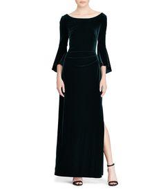 2c1f601369f1 Donna Morgan Velvet Cold Shoulder Dress