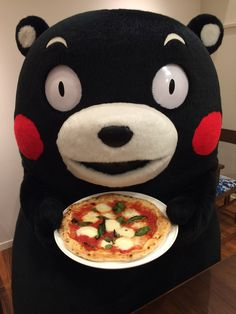 Kumamon can finally enjoy a decent bear-size personal pizza in Japan.