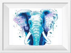 Cross Stitch Pattern. Watercolor Elephant. PDF Cross Stitch Pattern No187 This is a digital item. The PDF file of the pattern will be available for instant download once payment is confirmed. Instant Digital Download: in 2 ZIP = 6 PDF included. You can use the best of you. ♥ ♥ ♥ ♥ If you like 3 in 1 set, please click here: https://www.etsy.com/listing/493093476/set-3-in-1-wild-safari-animals-cross?ref=listing-shop-header-0 You can find more animals patt...