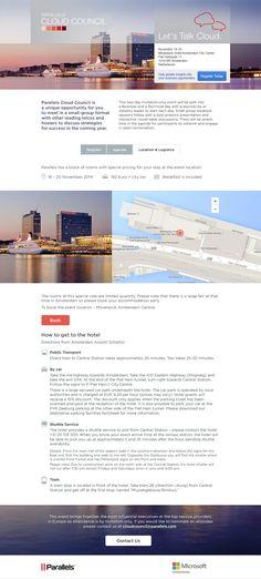 Parallels Cloud Council 2014 website. Design by Yulia Yunusova and Alena Filimonova. Location tab http://sp.parallels.com/pcc/#tab3