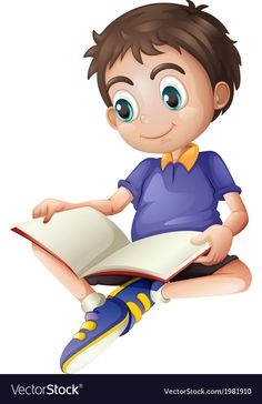 Illustration of a young man reading on a white background , Cartoon Pics, Cute Cartoon, Cartoon Characters, School Clipart, Young Boys, Young Man, Cartoon Wallpaper, Stories For Kids, Kids Cards