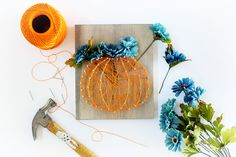 Comment on Fall String Art Ideas and Tutorial by Deathly Hallows String Art - Sugar Bee Crafts Bee Crafts, Fall Crafts, Diy Crafts For Kids, Holiday Crafts, Arts And Crafts, Simple Crafts, Fall Door Decorations, Diy Halloween Decorations, Halloween Crafts