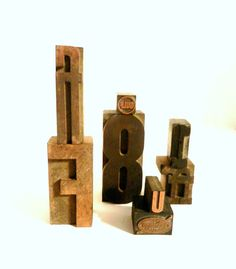 Vintage Wood Letter Press Blocks Typography by happenstanceNwhimsy, $15.00