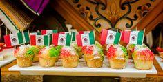 Mexican Flag cupcakes - Riu Playacar - Playa del Carmen, Mexico - Mexico's Independence Day - Viva México
