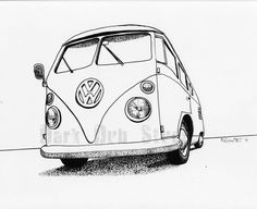 vos vw en dessin combi split et autres page 2 volkswagen combi pinterest dessin combi. Black Bedroom Furniture Sets. Home Design Ideas