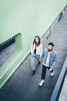J'aime tout chez toi - Denim style - Fashion couple - Levi's 501 jeans + American apparel jacket