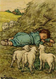 :: Sweet Illustrated Storytime :: Illustrations by Clara M. Burd :: Little Boy Blue, Moter Goose