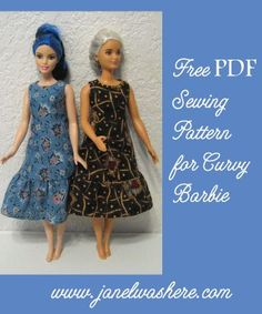 Sewing Animals Projects Free sewing pattern for Curvy Barbie Sewing Barbie Clothes, Barbie Sewing Patterns, Doll Dress Patterns, Sewing Patterns Free, Clothing Patterns, Free Sewing, Skirt Patterns, Sewing Dolls, Coat Patterns