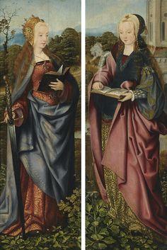 maertyrer: Master of Frankfurt - Saint Catherine and Saint Barbara (early 16th century)