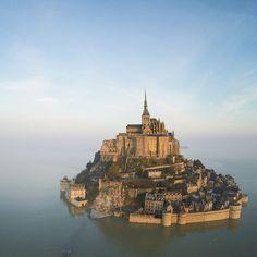 The Mont-Saint-Michel - Abbey, mount, tides, hotels, bay - Near St ...