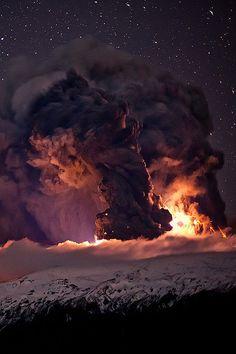 Eyjafjallajokull Volcano by Gunnar Geirmundsson