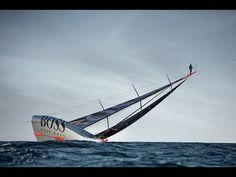 The Mast Walk by Alex Thomson - YouTube; Wie Catwalk, nur auf See aber ohne Kaviar