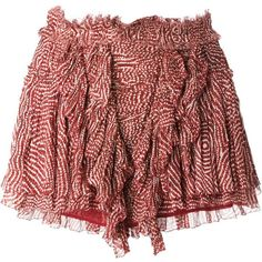 Isabel Marant 'Melissa' skirt (5 520 ZAR) ❤ liked on Polyvore featuring skirts, red, red high waisted skirt, dot skirt, polka dot skirt, isabel marant skirt and red silk skirt