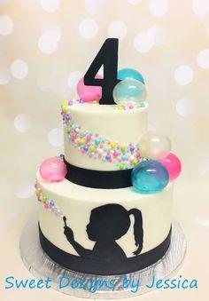Bubble themed birthday cake