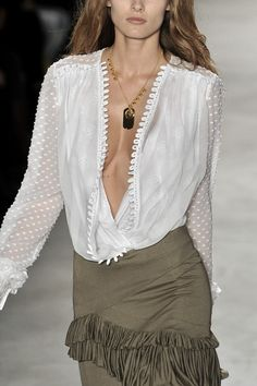 Altuzarra - it may be extremely low cut, but I really like the polka dots on the shirt.