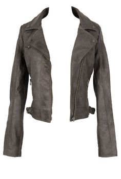 Fitted vegan leather jacket