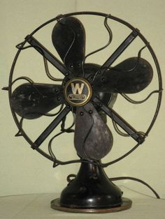 vintage electric fan would cool things down in the cave