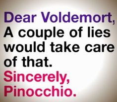 Message by Pinocchio to Voldemort - #funny picture message @mobile9