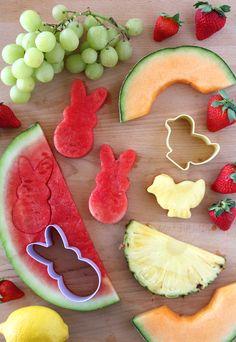 Easy Lemon Dip Recipe with Easter Themed Fruit
