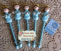plumas decoradas para baby shower pasta francesa - Buscar con Google