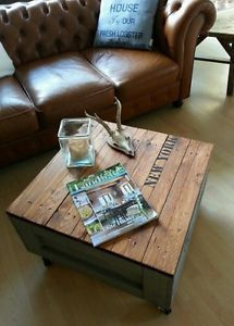 couchtisch shabby Transportkiste coffee table