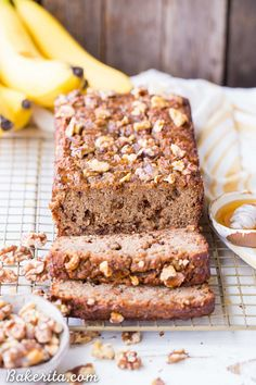 Paleo Honey Nut Banana Bread is a deliciously healthy breakfast or snack. It's a lightly honey-sweetened treat that's gluten-free and grain-free.