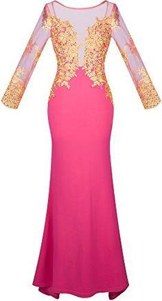Angel-fashions Damen Long Sleeves Transparente Stickerei-Nixe-Rosen-Kleid, http://www.amazon.de/dp/B01A7ZZEV2/ref=cm_sw_r_pi_s_awdl_AubNxbX4DPGB3