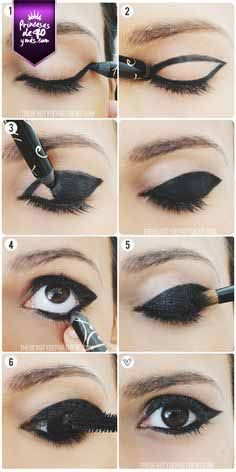 Un maquillaje cargado para un evento en la noche. #eyes #style #makeup #PrincesasDe40