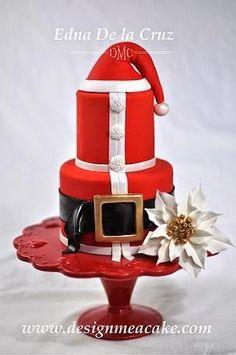 Art Santa Cake pictures-of-cakes-i-love Christmas Sweets, Christmas Baking, Christmas Cakes, Father Christmas, Christmas Holiday, Xmas Cakes, Christmas Wedding, Beautiful Cakes, Amazing Cakes