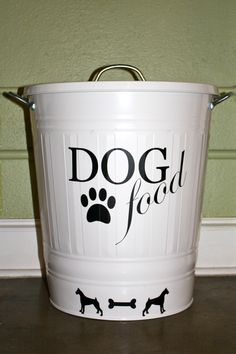 dog food container for toby