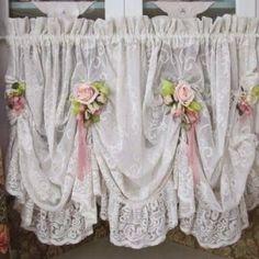 Image result for shabby chic curtains #shabbychicbathroomscurtains #DIYHomeDecorShabbyChic