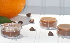 Chocolate covered orange homemade lip balm