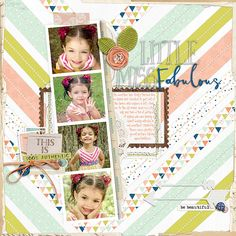 Little Miss Fabulous love the stitched chevrons in this page by Hillarey #designerdigitals