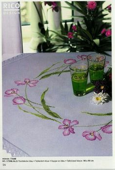 Counted Cross Stitch Patterns, Cross Stitch Designs, Cross Stitch Embroidery, Hand Embroidery, Cross Stitch Rose, Cross Stitch Flowers, Rico Design, Fabric Art, Cross Stitching