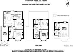 4 bedroom semi-detached house for sale in Brampton Road, St. 1930s House Extension, Brick Extension, House Extension Plans, House Extension Design, Rear Extension, Extension Ideas, Attic Conversion Floor Plans, Loft Conversion Floor, House Plans Uk