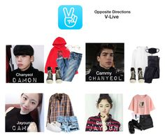 """Opposite Directions • V-LIVE"" by pc-blue ❤ liked on Polyvore featuring SWEAR, J.Crew, DRKSHDW, WithChic, Yeah Bunny and Timberland"