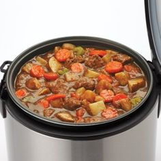 Slow cooking stew in Aroma stainless steel digital rice cooker & food steamer Quinoa In Rice Cooker, Aroma Rice Cooker, Multi Cooker Recipes, Rice Cooker Recipes, Rice Recipes, Recipies, Dog Food Recipes, Healthy Recipes, Healthy Foods