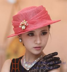 Popular Girls Church Hats-Buy Cheap Girls Church Hats lots from ... Sinamay dcefb7594ef1