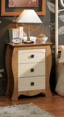 Tables de nuit en bois: modèle VIENA (Avec 3 tiroirs)