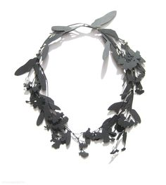 Christopher Thompson Royds - Stilled Life: Forget Me Nots & Lady's Smock, necklace/object, 2012, oxidised silver, 18ct gold