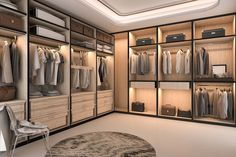 If there's one design element that's hard to get too much of, it's a well-designed, enviable walk-in closet. If you don't have a walk-in closet, odds are you want one. Walk In Closet Design, Wardrobe Design, Closet Designs, Closet Dividers, Closet Doors, Walk In Closet Inspiration, Organizing Walk In Closet, Modular Wardrobes, Balkon Design